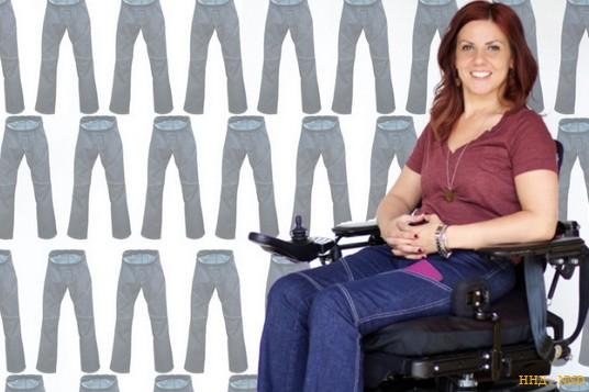 Американка создала джинсы для колясочников