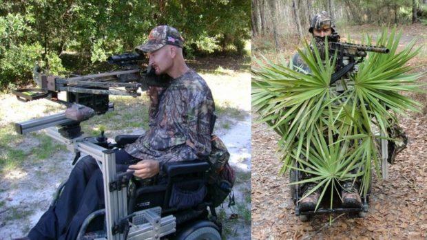 Охотник - колясочник на электроколяске