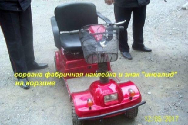 Похищенный у инвалида во Владивостоке скутер найден