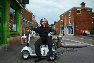 Реактивный скутер для инвалидов, разгоняющийся до 200 км/ч