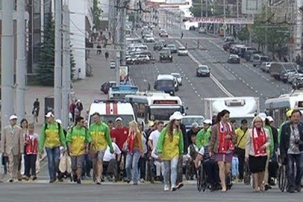 Мини-марафон инвалидов-колясочников прошел в Витебске