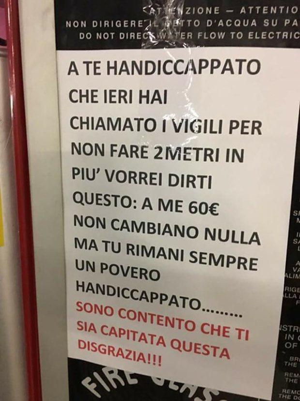"""Отомстил инвалидам: """"герой парковки"""" шокировал Италию омерзительным поступком"""