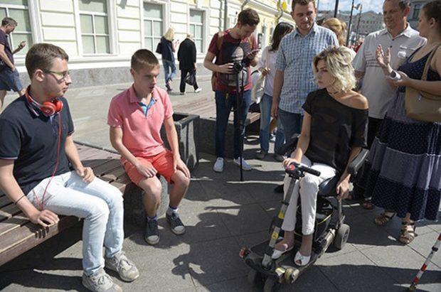 В аудите на доступность городских улиц приняли участие общественники с разными видами инвалидности