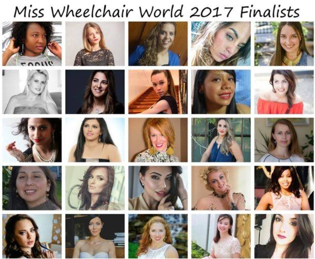 Финалистки Miss Wheelchair World среди девушек на инвалидных колясках