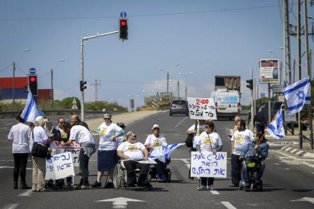 В Израиле инвалиды продолжают «шоссейную войну»