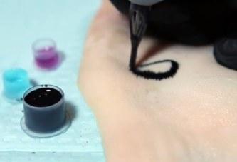 Чернила меняют цвет тату при повышении уровня сахара