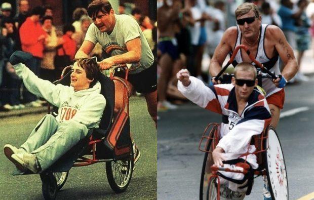 Дик и Рик пересекли территорию США, совмещая бег и велосипед