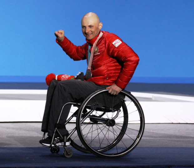 Капитан белорусских паралимпийцев Дмитрий Лобан