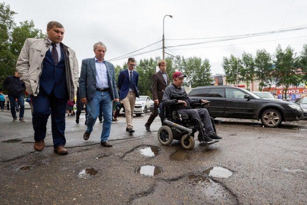 В Томске на проспекте Мира нужно сделать съезды для инвалидов