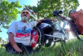 Хендбайкер рванул из Самары в Волгоград