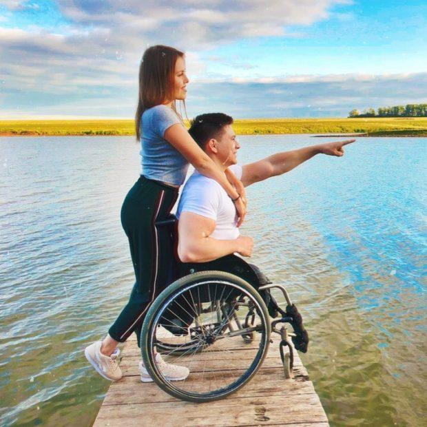 Рустам Набиев с женой
