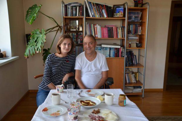 С дочкой Полиной