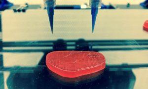 Стейки икурица, еда напечатанная на3D-принтере