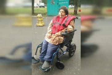 Подарили женщине коляску с электроприводом