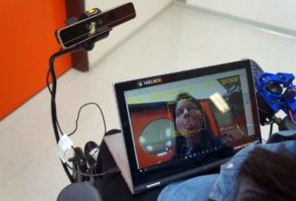 Управление электроколяской с помощью мимики