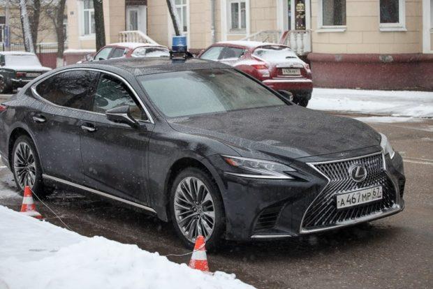 Машина губернатор Смоленской области Островского Алексея Владимировича