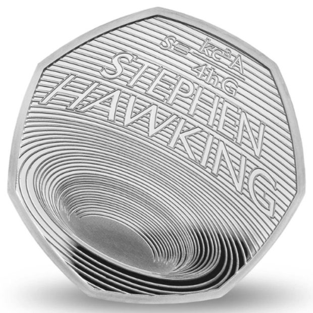 Любимый предмет исследований Хокинга черную дыру олицетворили в памятной монете