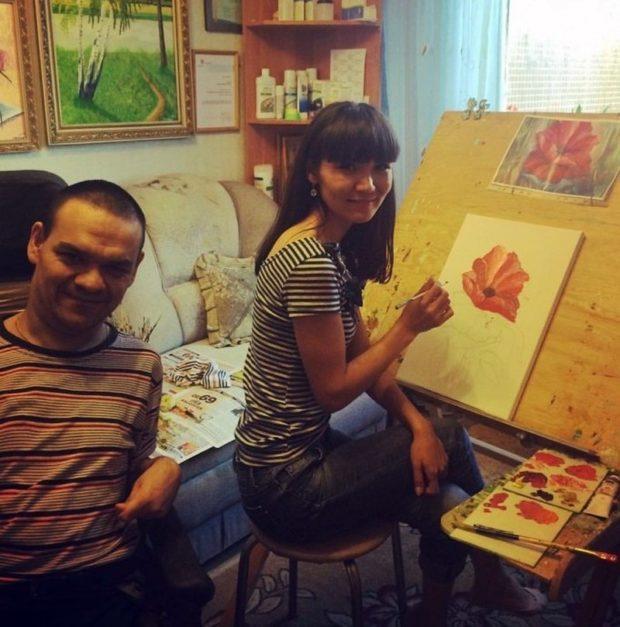 Казахская муза художника-инвалида из Татарстана