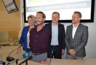 Ник Вуйчич приехал в Нижний Новгород сажать «семена любви»