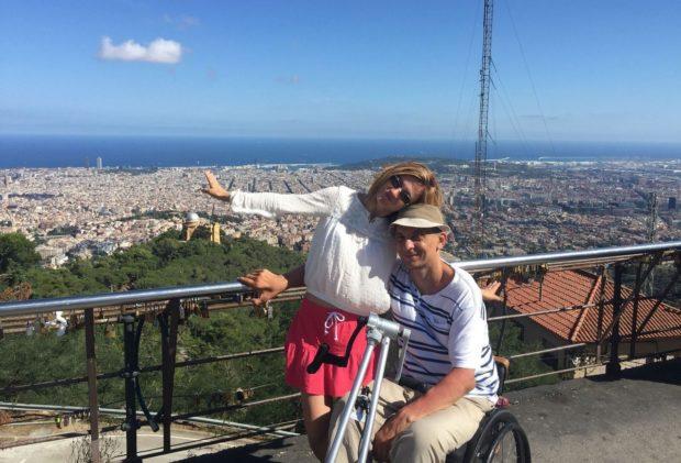 Сергей Мацкевич с супругой Ольгой в Барселоне, 2015 год