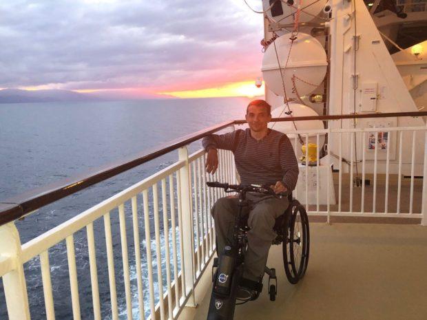Сергей Мацкевич на борту лайнера у западного берега Мексики
