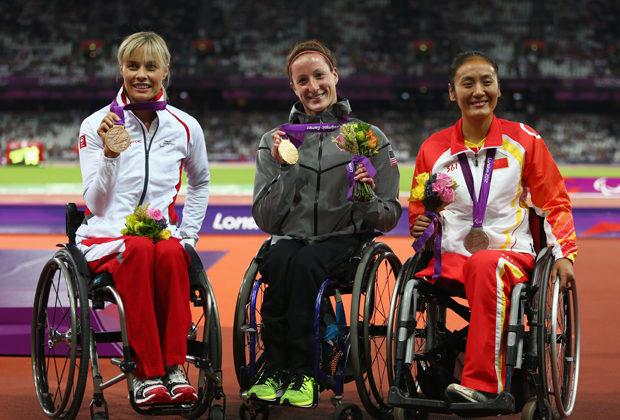 Паралимпийские игры-2012. Лондон. Татьяна Макфадден (в центре)