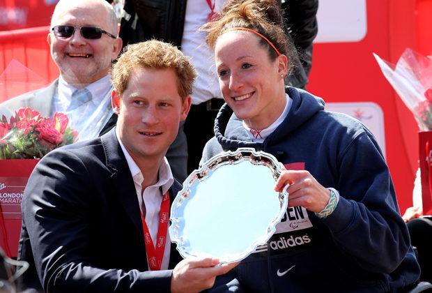 Принц Гарри и Татьяна Макфадден. Лондонский марафон