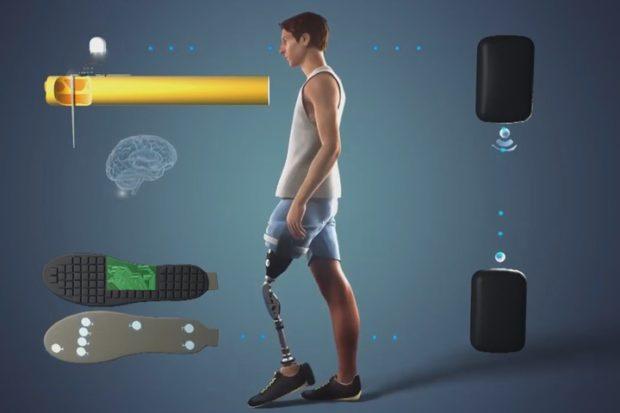 Уникальная система позволяет ощущать протезы ног
