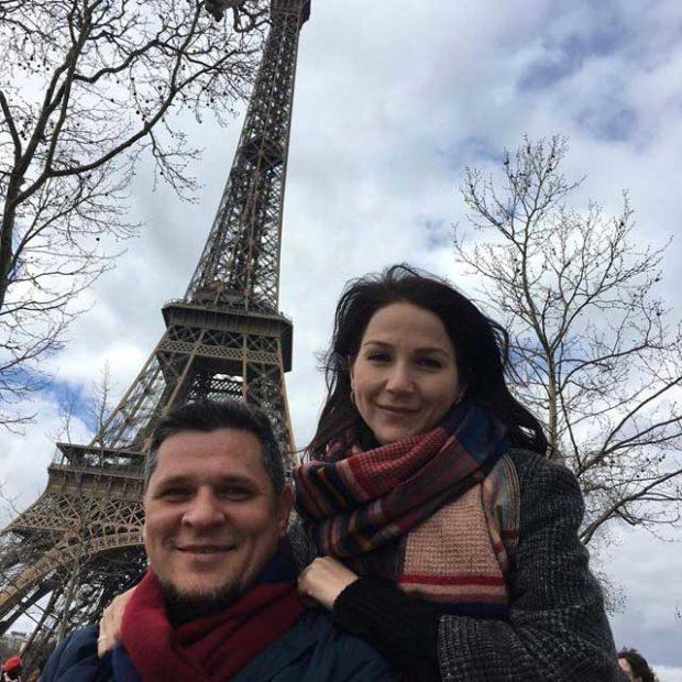 Дамир с женой в Париже