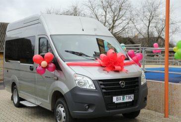 Узденскому ЦКРО подарили микроавтобус