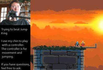 Парализованный игрок прошёл сложнейший платформер