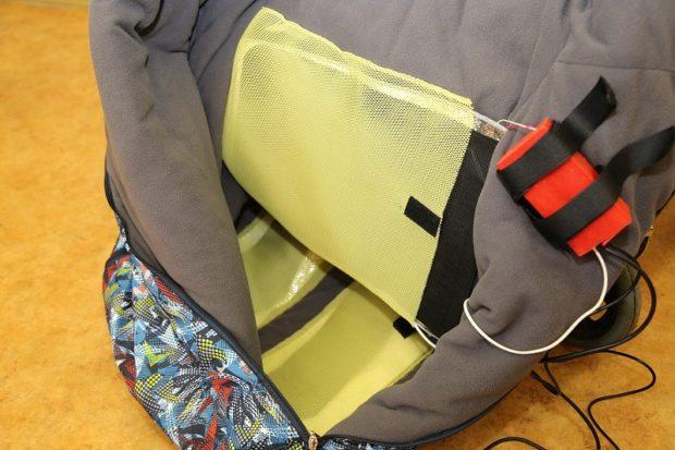Теплозащитный мешок для зимних прогулок на инвалидной коляске