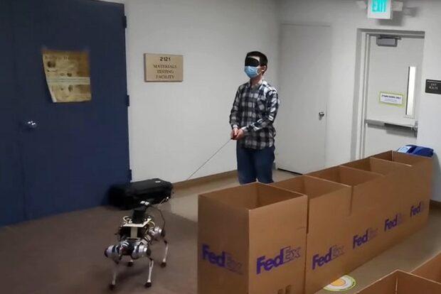 В США создали робособаку-поводыря