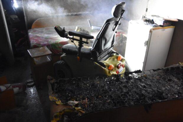 Во время пожара в санатории пострадал человек